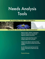 Needs Analysis Tools A Complete Guide - 2020 Edition