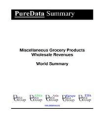 Miscellaneous Grocery Products Wholesale Revenues World Summary