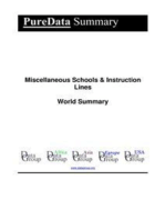 Miscellaneous Schools & Instruction Lines World Summary