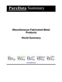 Miscellaneous Fabricated Metal Products World Summary: Market Values & Financials by Country