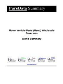 Motor Vehicle Parts (Used) Wholesale Revenues World Summary: Market Values & Financials by Country