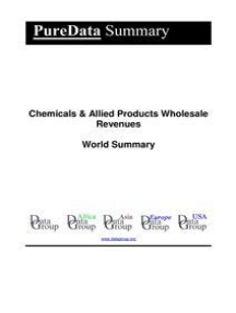 Chemicals & Allied Products Wholesale Revenues World Summary: Market Values & Financials by Country