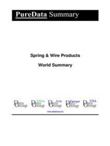 Spring & Wire Products World Summary: Market Values & Financials by Country