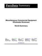 Miscellaneous Commercial Equipment Wholesale Revenues World Summary