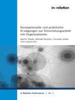 Konzeptionelle und praktische Erwägungen zur Entwicklungsarbeit mit Organisationen