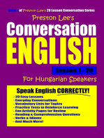 Preston Lee's Conversation English For Hungarian Speakers Lesson 1