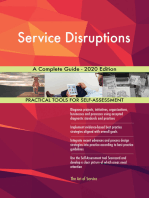Service Disruptions A Complete Guide - 2020 Edition