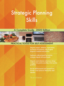 Strategic Planning Skills A Complete Guide - 2020 Edition