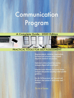 Communication Program A Complete Guide - 2020 Edition