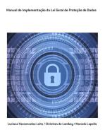 Manual De Implementação Da Lei Geral De Proteção De Dados