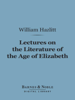 Lectures on the Literature of the Age of Elizabeth (Barnes & Noble Digital Library)