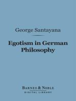 Egotism in German Philosophy (Barnes & Noble Digital Library)