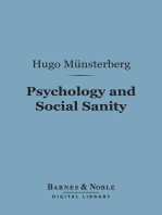 Psychology and Social Sanity (Barnes & Noble Digital Library)
