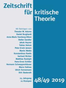 Zeitschrift für kritische Theorie, Heft 48/49: 25. Jahrgang (2019)