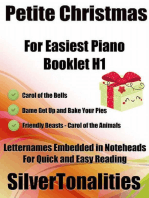 Petite Christmas Booklet H1 - For Beginner and Novice Pianists Carol of the Bells Dame Get Up and Bake Your Pieces Friendly Beasts Carol of the Animals Letter Names Embedded In Noteheads for Quick and Easy Reading