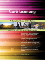 Care Licensing A Complete Guide - 2020 Edition