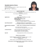 resume format resume format for ame students