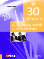 30 Minuten für mehr Freundlichkeit im Kundenservice
