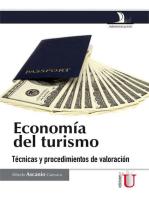 Economía del turismo. Técnicas y procedimientos de valoración