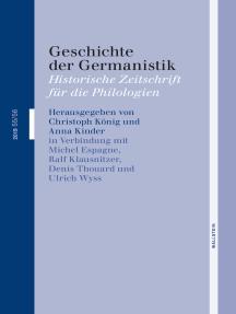 Geschichte der Germanistik: 2019