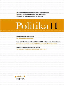 Politika 11: Jahrbuch für Politik   Annuario di politica   Anuer de pulitica