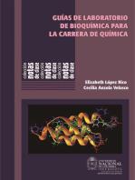 Guías de laboratorio de bioquímica para la carrera de química