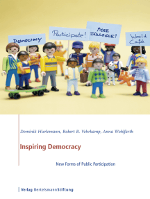 Inspiring Democracy: New Forms of Public Participation