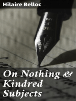 On Nothing & Kindred Subjects