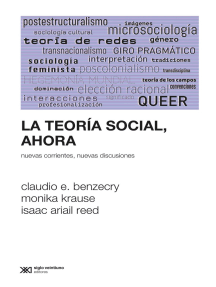 La teoría social, ahora: Nuevas corrientes, nuevas discusiones