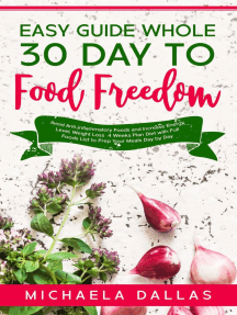 Easy Guide Whole 30 Day Food Freedom