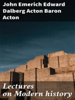 Lectures on Modern history