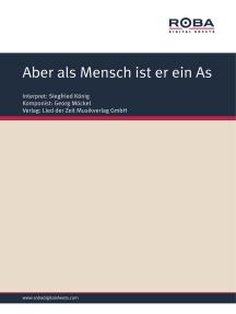 Aber als Mensch ist er ein As: Single Songbook, as performed by Siegfried König