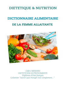 Dictionnaire alimentaire de la femme allaitante
