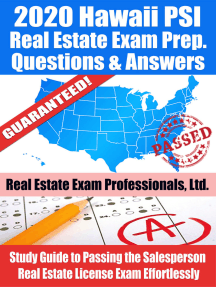 2020 Hawaii PSI Real Estate Exam Prep Questions & Answers: Study Guide to Passing the Salesperson Real Estate License Exam Effortlessly