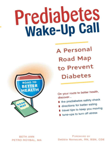 Prediabetes Wake-Up Call: A Personal Road Map to Prevent Diabetes