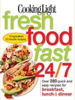 Cooking Light Fresh Food Fast 24/7