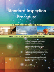 Standard Inspection Procedure A Complete Guide - 2020 Edition