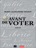 1 euro avant de voter: Essai politique