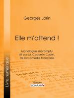 Elle m'attend !: Monologue impromptu dit par M. Coquelin Cadet, de la Comédie-Française