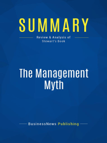 Summary: The Management Myth: Review and Analysis of Stewart's Book