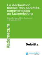 La déclaration fiscale des sociétés commerciales au Luxembourg