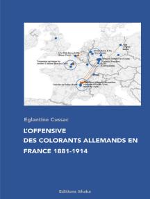L'offensive des colorants allemands en France 1881-1914: Essai