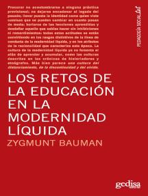 Los retos de la educación en la modernidad líquida