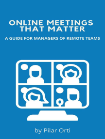 Online Meetings that Matter. A Guide for Managers of Remote Teams