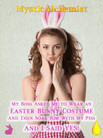 My Boss Asked Me To Wear An Easter Bunny Costume And Then Soak Him With My Piss And I Said Yes!