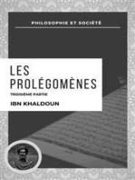 Les Prolégomènes: Troisième Partie