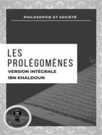Les Prolégomènes: VERSION INTÉGRALE