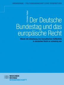 Der Deutsche Bundestag und das europäische Recht: Warum die Umsetzung des Europäischen Haftbefehls in deutsches Recht so schwierig war