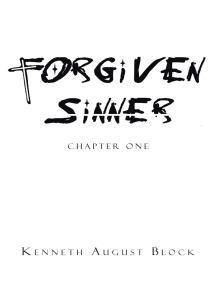 Forgiven Sinner: Chapter One