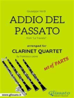 Addio del Passato - Clarinet Quartet set of PARTS